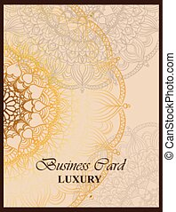 Business card with luxurious ornament Vector