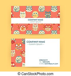 Business Card with Owls