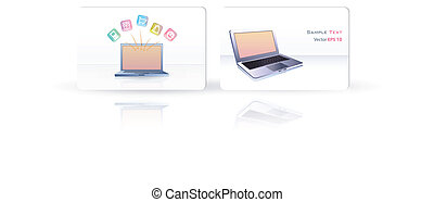 Business card with PC.