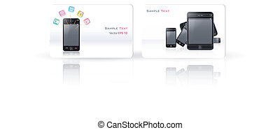 Business card with Phone.