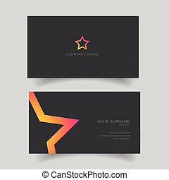 Business card with star shape vector