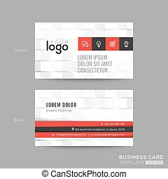 business card with white pattern background