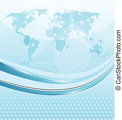 Business card with world map