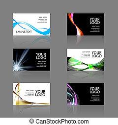 Business Cards Assortment - An assortment of 6 modern...
