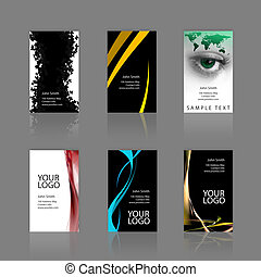 Business Cards Assortment - An assortment of 6 modern...