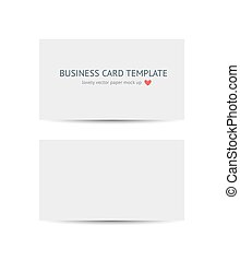 Business cards blank mockup template