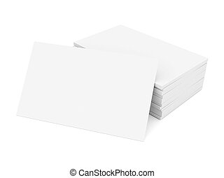 Business cards blank mockup - template - white background