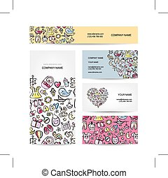 Business cards design, baby toys