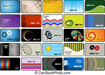 Business cards - Large collection of various business card...
