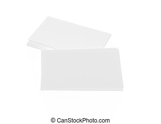 Business cards on white background .