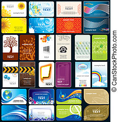 Business Cards - Set of variety business cards, front and ...