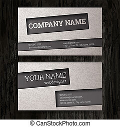 Business cards set.