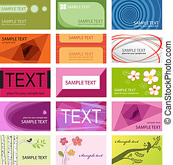 Business cards set template. Colorful vector illustration