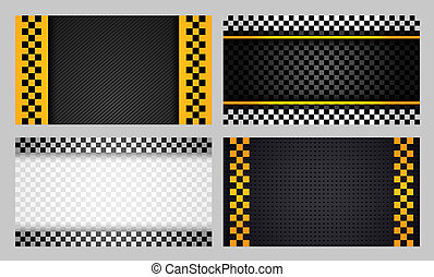 Business cards taxi set new