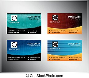 Business cards template element