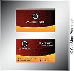 Business cards Template layout
