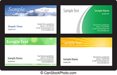 Business cards template. Vector ill