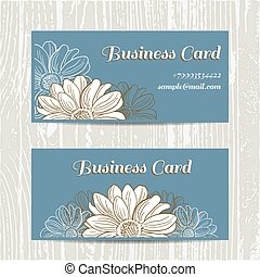 Business Cards With Camomiles