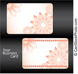 Business cards with flowers, part 15, vector illustration
