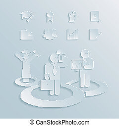 business career vector illustration