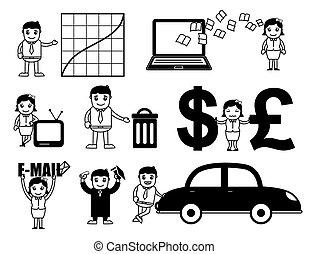 Business Cartoon Vectors Set