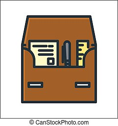 business case icon color