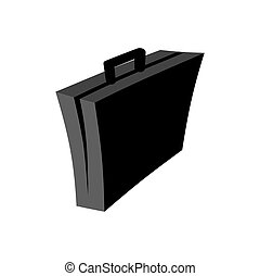 Business case isolated. Suitcase on white background. Vector illustration