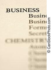 Business categories.