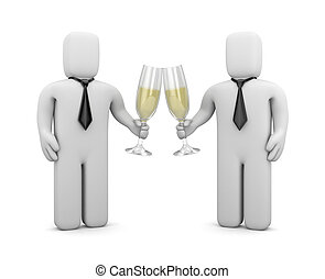 Business celebrations - Image contain the clipping path