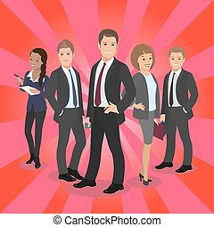 Business celebrity silhouette on red carpet. Male female People posing vector