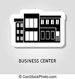 Business center black building sticker