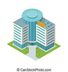 Business center building isometric - Modern 3d urban...