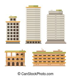 Business Center Buildings Set - Business Center and City...