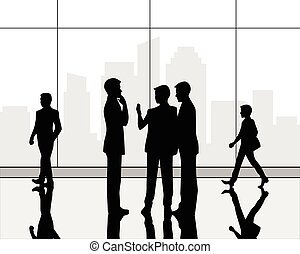 Business center hall - Vector illustration of a business...