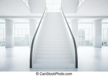Business center interior - Spacious concrete business center...