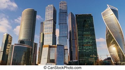Business Center Moscow City Skyscrapers Time-lapse