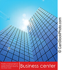 Business center. Vector illustration. downtown, windows,...