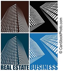 business Centre - Stylized vector illustration of the...