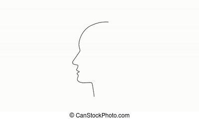 business, cerveau humain, idée, polygonal, poly, q.i., supplément, concept., travail, projet, drogue, bas, e-apprendre, animation, nootropic, braingpower., intelligent, idée génie, vidéo, créatif