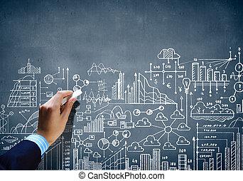 Business chalk sketch
