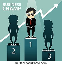 Business Champ Vector Illustration