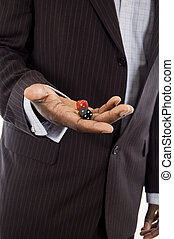 Business Chance - This is an image of a businessman holding...
