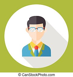 business character flat icon