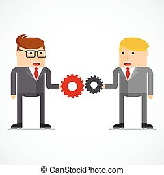 business character interaction
