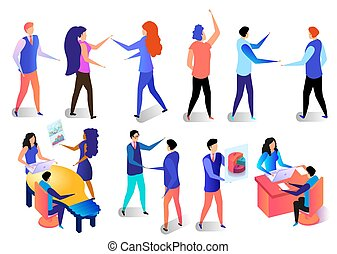 Business Characters Activities in Office Set.