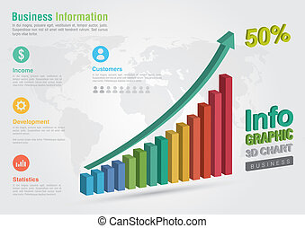 Business chart infographic.