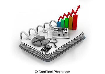 Business chart,  stock exchange, statistics accounting and banking business concept