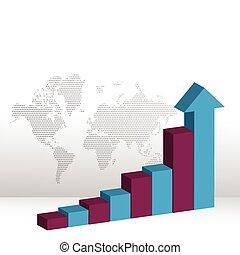 Business Chart with arrow head