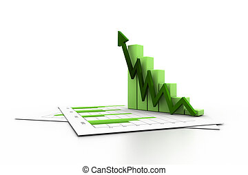Business chart with growth graph