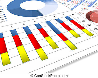 Business charts and graphs
